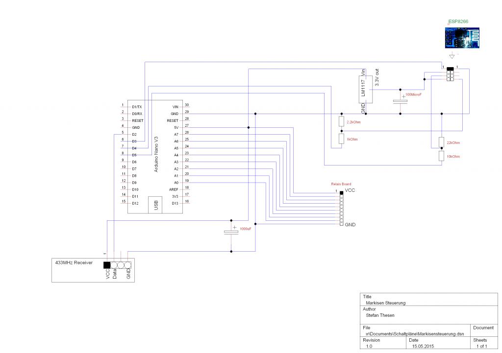 Funk & WLAN Markisensteuerung mit ESP8266 und Arduino - Bastel ...
